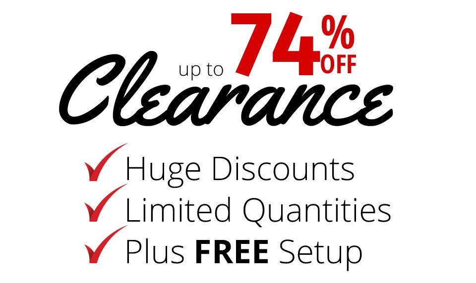 up to 74% off Clearance