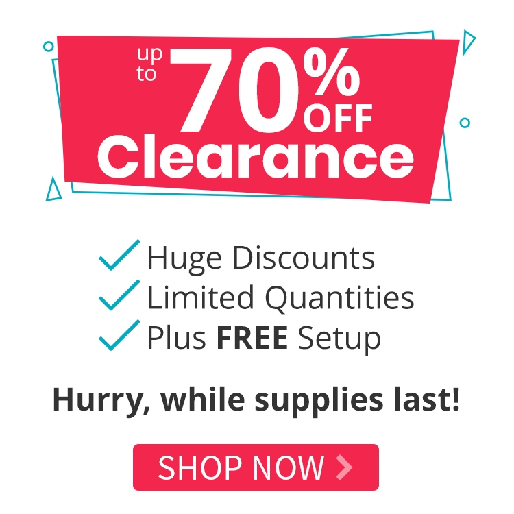 Clearance - Markdowns Up to 70% Off Plus FREE Setup