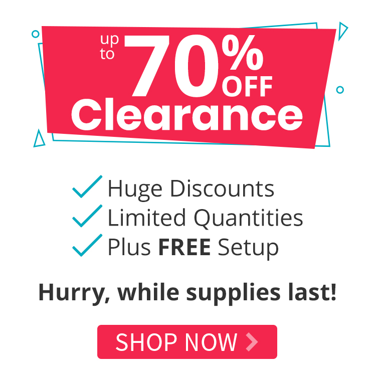 Up to 70% off Clearance Products