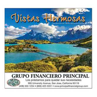 Customized Wall Calendar Vista Hermosas