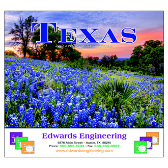 Customized Wall Calendar Texas