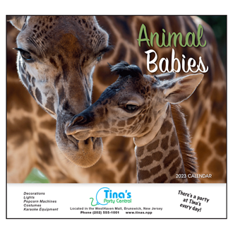 Customized Wall Calendar Animal Babies