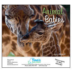 Customized Wall Calendar Animal Babies