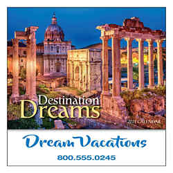 Customized Mini Destination Dreams Calendar