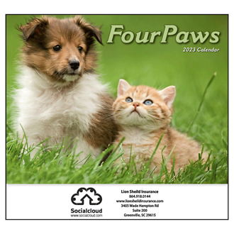 Customized Mini Four Paws Calendar