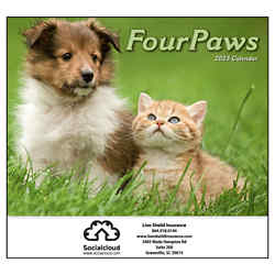 Customized Mini Four Paws Calendar
