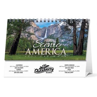Customized Spiral Desk Tent Calendars Scenic America