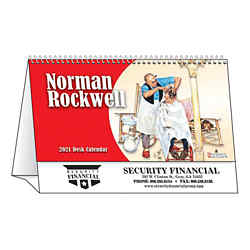 Customized Spiral Desk Tent Calendars Norman Rockwell