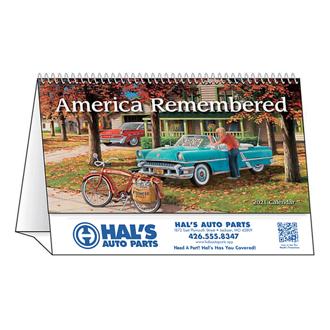 Customized Spiral Desk Tent Calendars America Remembered