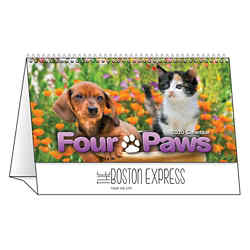Customized Spiral Desk Tent Calendars Four Paws