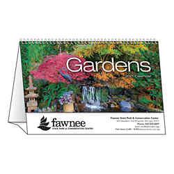 Customized Spiral Desk Tent Calendars Gardens