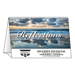 Customized Spiral Desk Tent Calendars Reflections