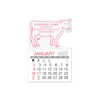 Customized Value Stick Calendar - Cow