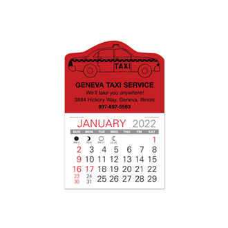 Customized Value Stick Calendar - Taxi