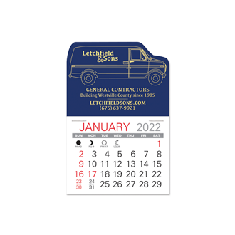 Customized Value Stick Calendar - Van