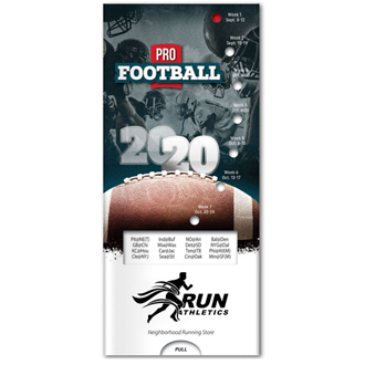 Customized Pro Football Schedule Pocket Slider