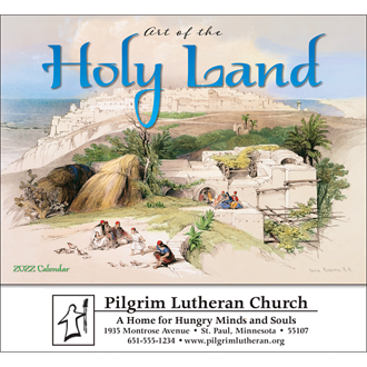Customized Wall Calendar Art of the Holy Land-Universal