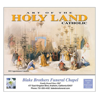 Customized Wall Calendar Art of the Holy Land - Catholic