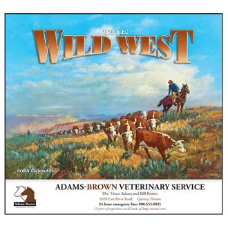 Customized Wall Calendar The Wild West