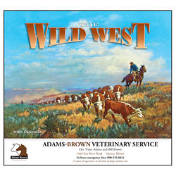 Customized Wall Calendar The Wild West