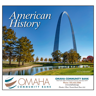 Customized Wall Calendar Great Symbols of American History
