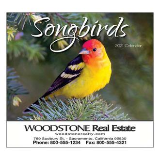 Customized Wall Calendar Nature Songbirds