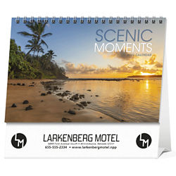 Customized Triumph® Large Scenic Moments Pocket Desk Calendar