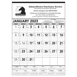 Customized Triumph® Black & White Contractor Memo Calendar