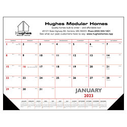 Customized Triumph® Red & Black Desk Pad Calendar