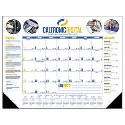 Customized Triumph® Desk Pad Calendar - Full Colour