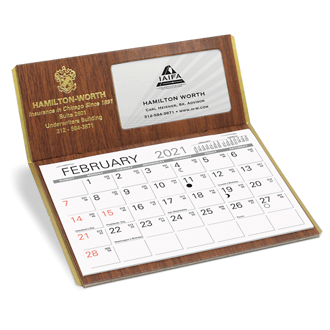 Customized Personalizer Premier Desk Calendar