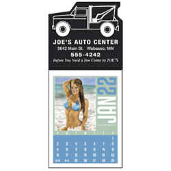 Customized Triumph® Swimsuit Rectangle Stick-Up Grid Calendar