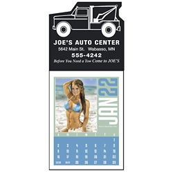 Customized Triumph® Swimsuit Rectangle Stick-Up Grid Calendar
