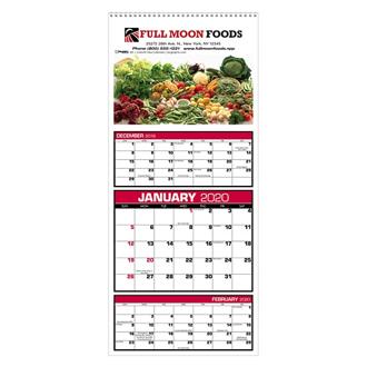 Customized Triumph® Custom 3 Month View Calendar-Full Color