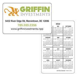 Customized Triumph® Vertical Wallet Card Calendar-FC