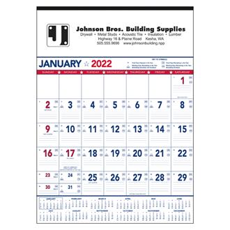 Customized Triumph® Patriotic Contractor Memo Calendar