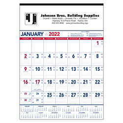 Customized Triumph® Patriotic Contractor Memo Calendar