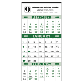 Customized Triumph® 3 Month Planner 12 Sheet Calendar
