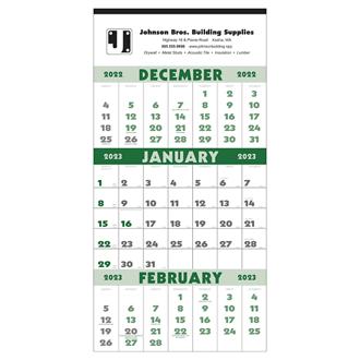 Customized Triumph® 3 Month Planner 12 Sheet Calendar