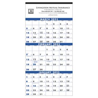 Customized Triumph® 3 Month Planner 4 Sheet Calendar