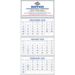 Customized Triumph® Blue & Gray Commercial Planner Calendar