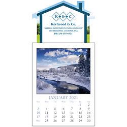 Customized Triumph® Stick Up Calendar with Scenic Grid