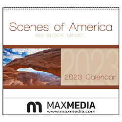 Customized Triumph® Scenes of America Big Block Memo Calendar