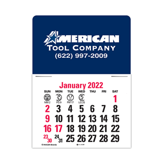 Customized Standard Press-N-Stick™ Calendar