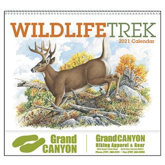 Customized Good Value™ Wildlife Trek Calendar (Spiral)