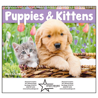 Customized Good Value™ Puppies & Kittens Calendar (Spiral)