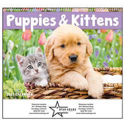 Customized Good Value™ Puppies & Kittens Calendar (Spiral)