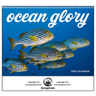 Customized Good Value™ Ocean Glory Calendar (Spiral)