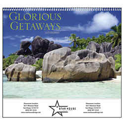 Customized Good Value™ Glorious Getaways Calendar (Spiral)