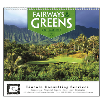 Customized Good Value™ Fairways & Greens Calendar (Spiral)